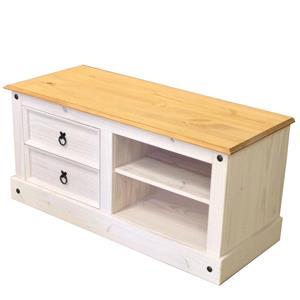 TV stolík CORONA biely vosk 161017B
