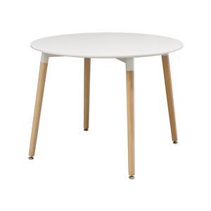 Jedálenský stôl priemer 100 UNO biely