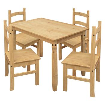 Jedálenský stôl 16116 + 4 stoličky 1627 CORONA 2