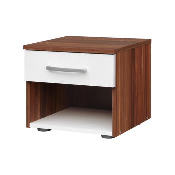 Nočný stolík 60140 orech/biela