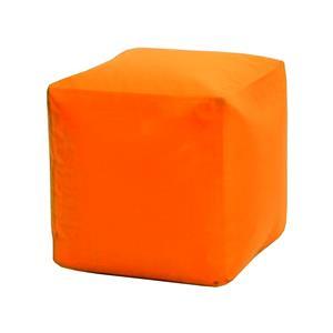 Sedací taburet CUBE oranžový s náplňou